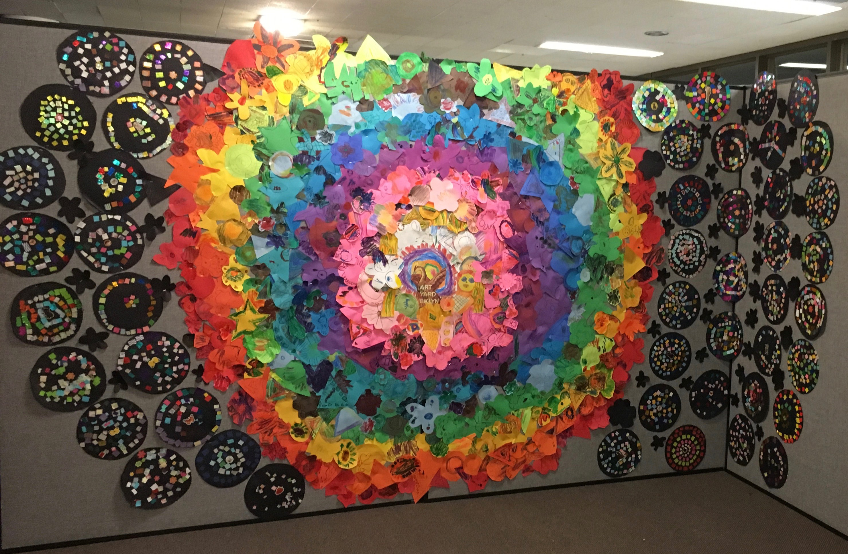 8 Mosaic mandalla installation