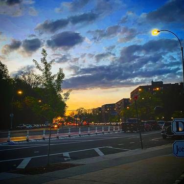 Amelia Tineo Fatima Traore, Queens Evening Walk Sky, June 2020