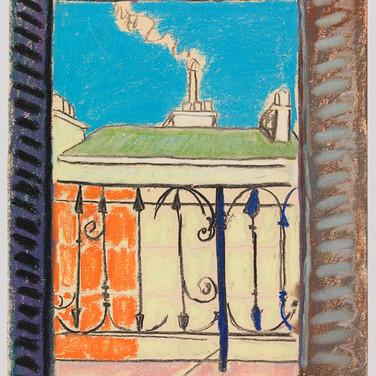 Image 2. (Painting) Beuford Delaney, Paris Window, 1952