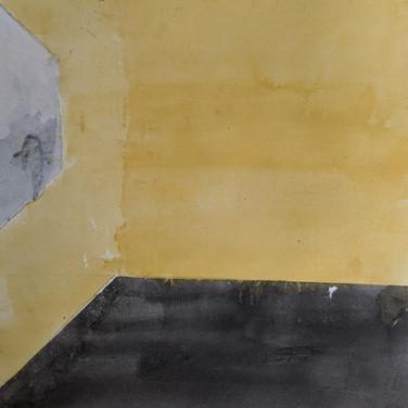 Zeke Brokaw, Mental Health - Feelings of Isolation, Painted Object Sculpture (in progress), paint on cardboard