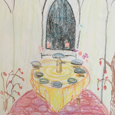 Jane Huntington, Image 4 Zoom Visualization 4/20, crayon on paper