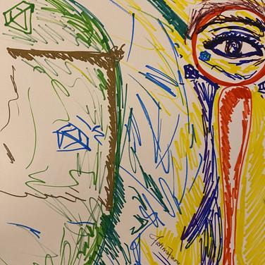 Fatima Traore, Image 5 Zoom Visualization 4/20, marker on paper