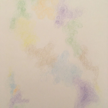 Wayne Gross, Guided Visualization (a place), 2020, colored pencil on paper