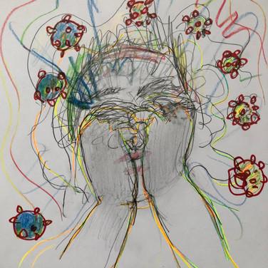 """Claudia Alvarez, """"Quarentine Expierence/Zoom Advanced Studio"""""""