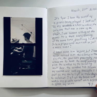 """Flávia Berindoague, """"poems and pictures from my diary of an artist in quarantine"""" 2, 2020"""
