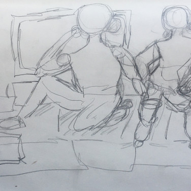 Sigrid D. Figure Drawing 2 (Zoom 4/13/20), pencil on paper