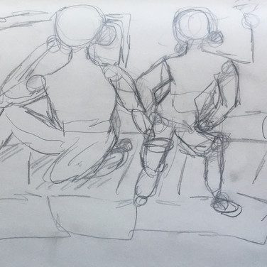 Eden M., Figure Drawing 2 (Zoom 4/13/20), pencil on paper
