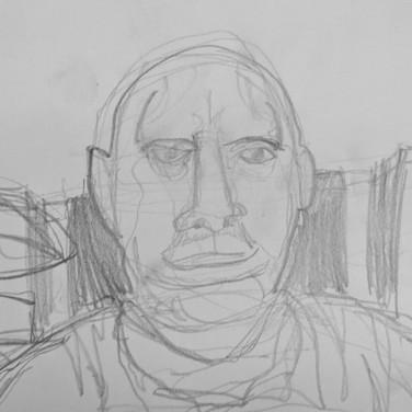 Zeke Brokow, Contour Portrait, Advanced Studio Zoom May 4, 2020