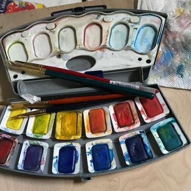 Felix Plaza, Watercolor set