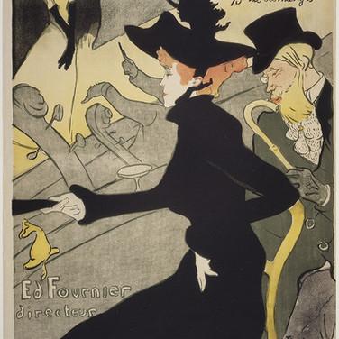 """Henri de Toulouse Lautrec, """"Divan Japonais"""", 1892–93, Lithograph printed in four colors, wove paper"""