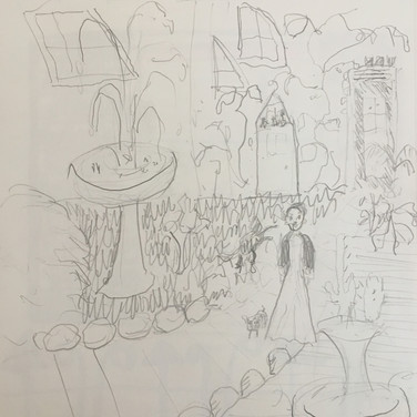 Jane Huntington,  Image 1 Zoom Visualization 4/20, pencil on paper