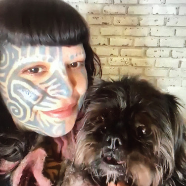 Our wonderful model Angelica Velez and her dog Chewy
