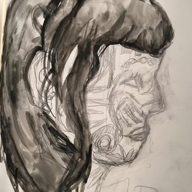 Sigrid D., Angelica Portrait 3, Advanced Studio Zoom, Apr. 27, 2020