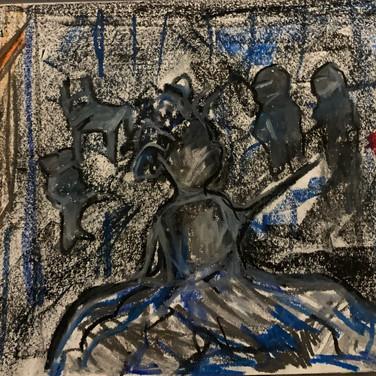 Vera Tineo, Image 3 Zoom Visualization 4/20, pastel on paper