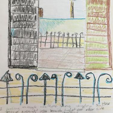 Jane Huntington,  Image 2 Zoom Visualization 4/20, crayon on paper
