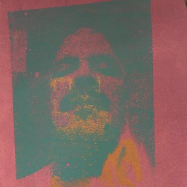 "Felix Plaza, ""Shifting Portrait"", 2020, silkscreen print"