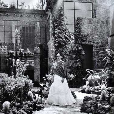 "Image 1. (Photo) Gisèle Freund, ""Frida in the Garden at Casa Azul"", 1951"