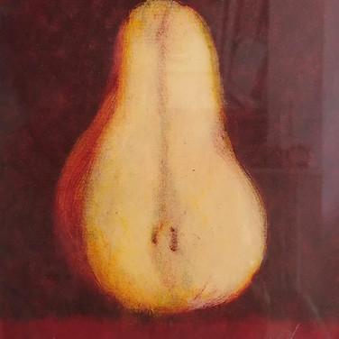 """Felix Plaza, """"Pear"""", monoprint"""