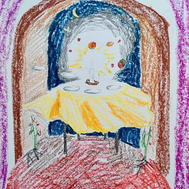 Evelyn Beliveau, Image 4 Zoom Visualization 4/20, pastel on paper