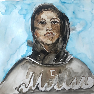 Claudia Alvarez, I Matter, 2020, Watercolor on paper