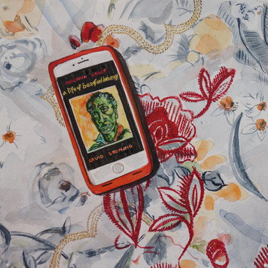 """Meridith McNeal, """"Magical Things from Quarantine A Life of Beauford Delaney on Kindle"""", 2020, watercolor on paper, 12x12"""""""