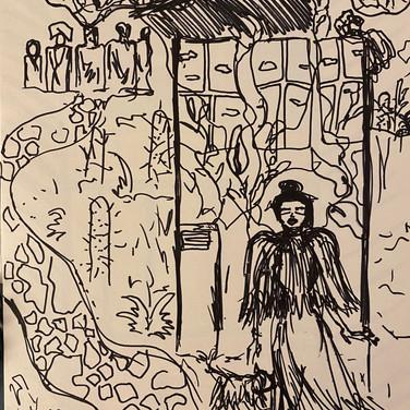 Fatima Traore, Image 1 Zoom Visualization 4/20, ink on paper