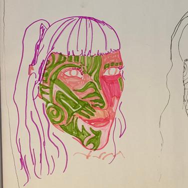Ajani Russell, Angelica Portrait 1 & 2, Advanced Studio Zoom, Apr. 27, 2020