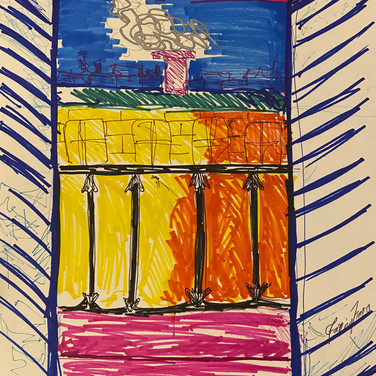 Fatima Traore,  Image 2 Zoom Visualization 4/20, marker on paper