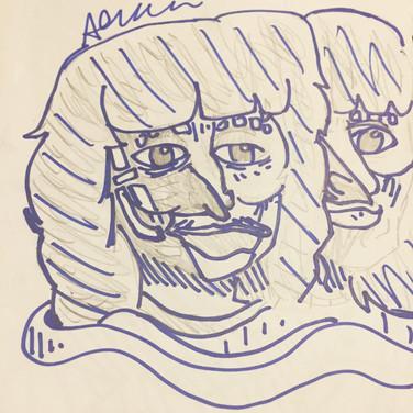 Akash W., Angelica Portrait 2, Advanced Studio Zoom, Apr. 27, 2020