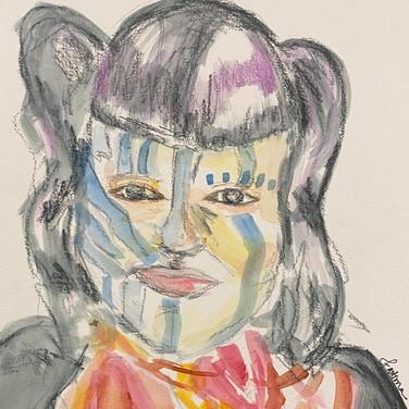 Fatima Traore, Angelica Portrait 1, Advanced Studio Zoom, Apr. 27, 2020