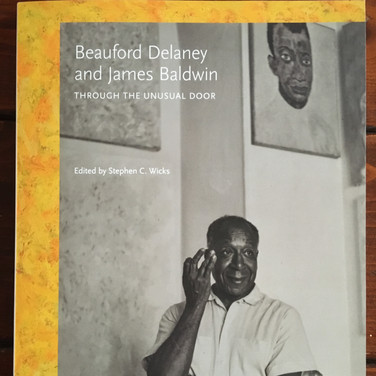 Bookcover Beauford Delaney and James Baldwin Through The Unusal Door, photograph Meridith to Quentin