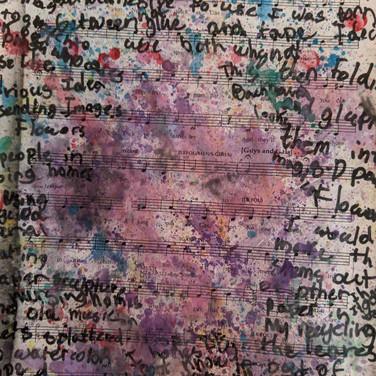 Jack Brokaw, The Harmony of Nature, paint on music score