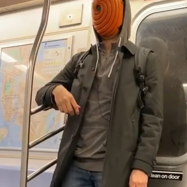 Mask seen on the NYC Subway 3, submitted by Blaze Sirius-El