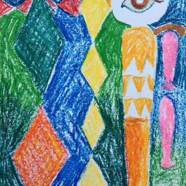 Evelyn Beliveau, Image 5 Zoom Visualization 4/20, pastel on paper