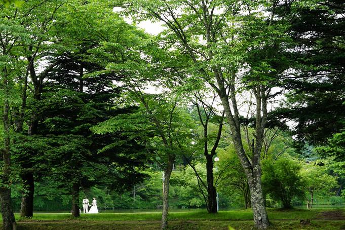 軽井沢で結婚再儀式としての写真