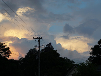 軽井沢夏日和 空を仰ぎ、雲を見る