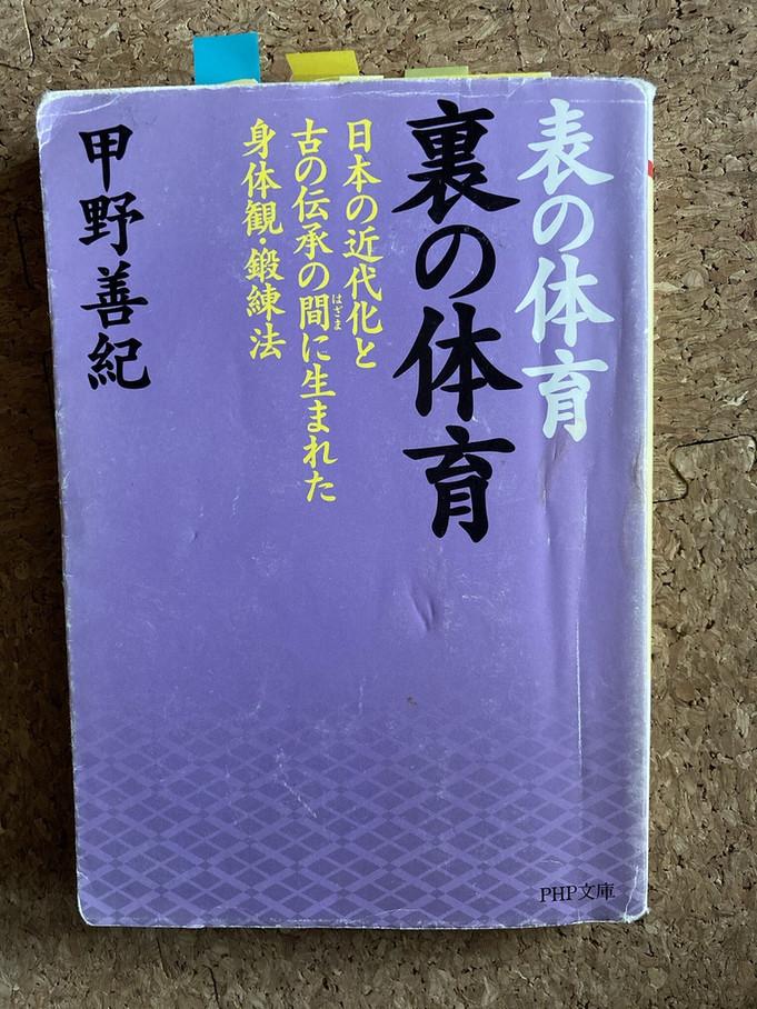 甲野善紀「表の体育 裏の体育―日本の近代化と古の伝承の間に生まれた身体観・鍛練法」(壮神社、1986年)