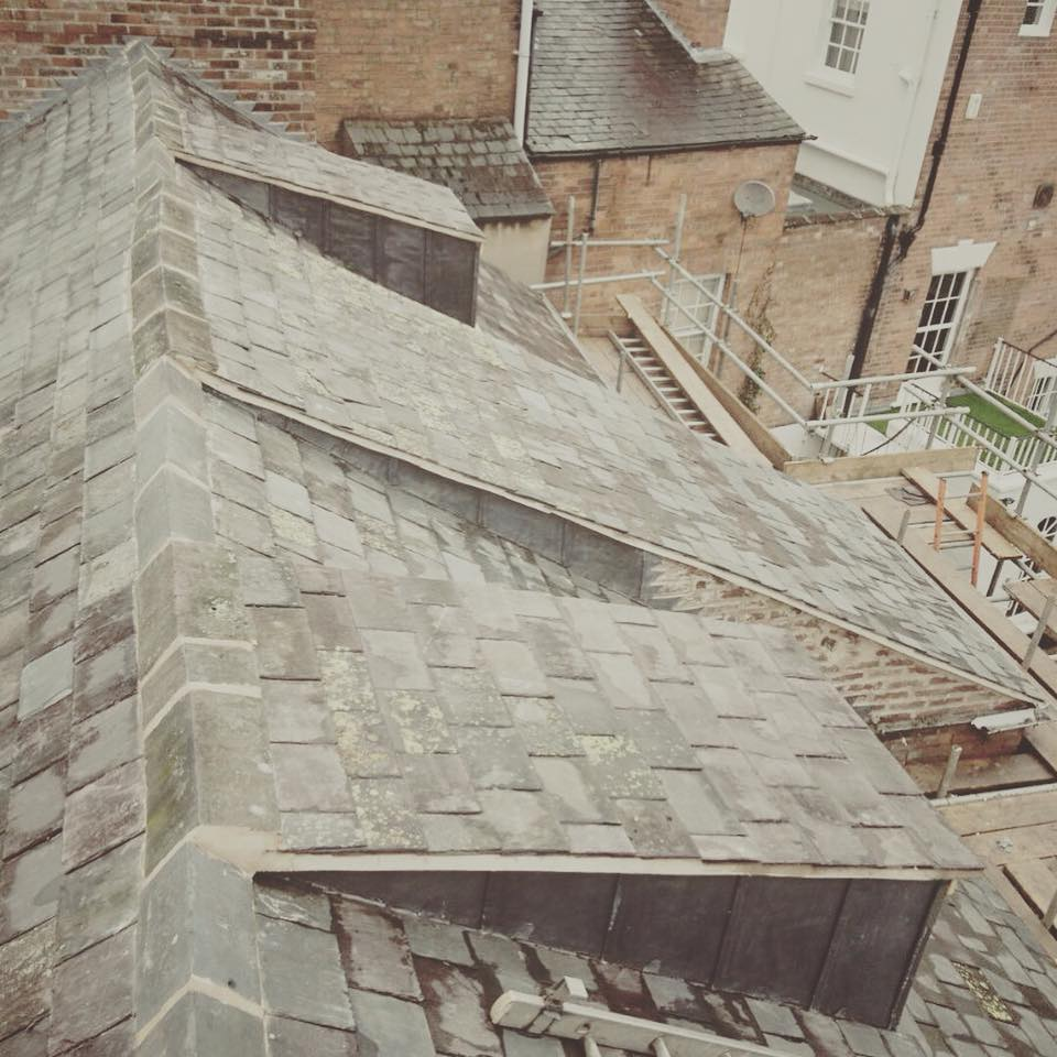 Reclaimed Slate roof Leamington Spa