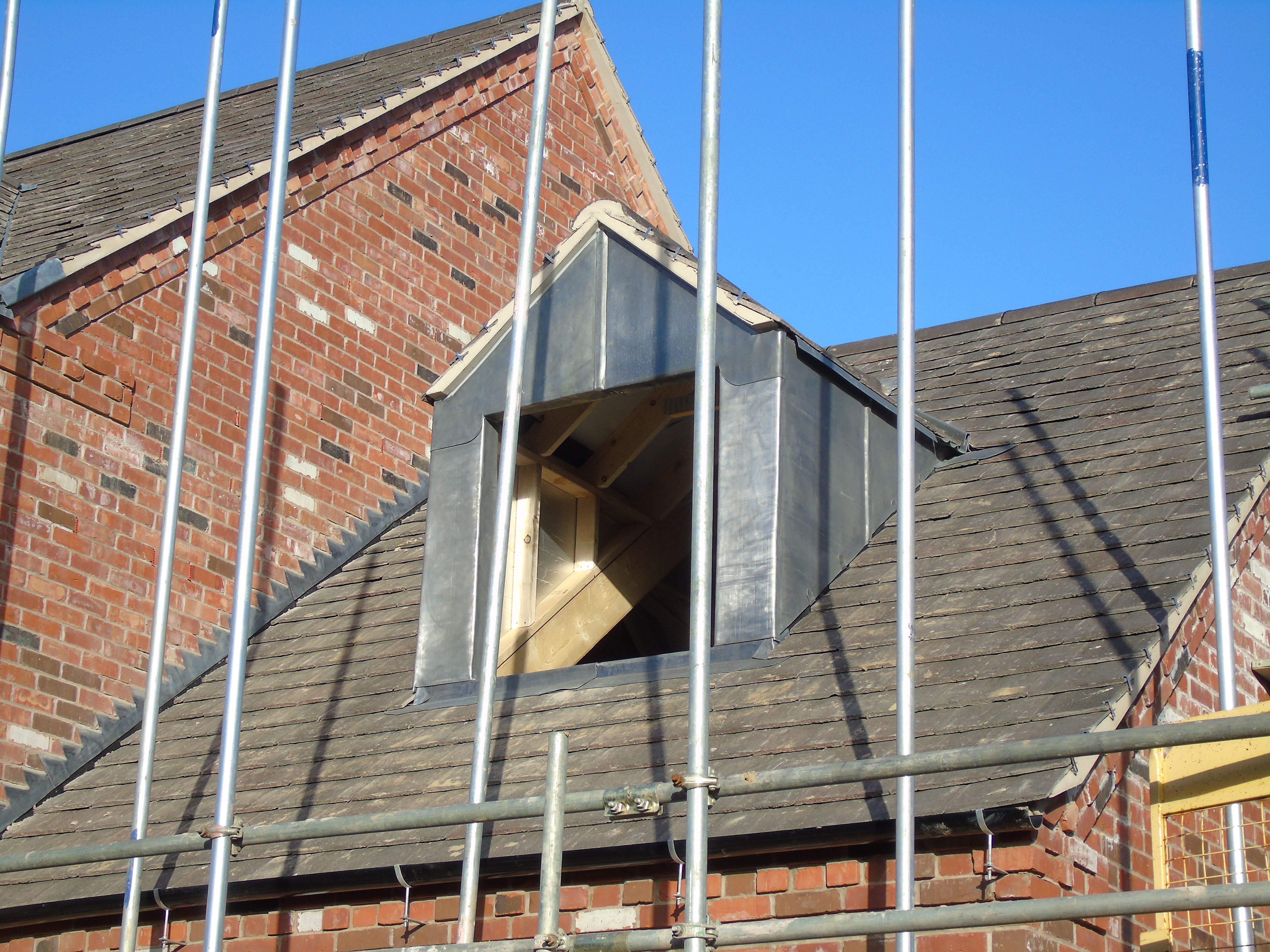 Lead Dormer on new roof installation