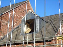 Lead Dormer on new roof installation