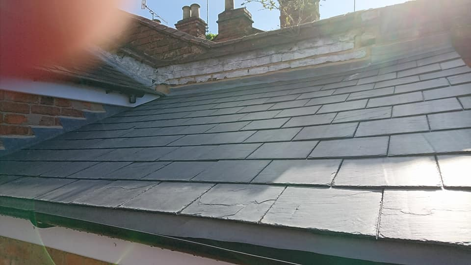 Slate re-roof StratfordUpon Avon