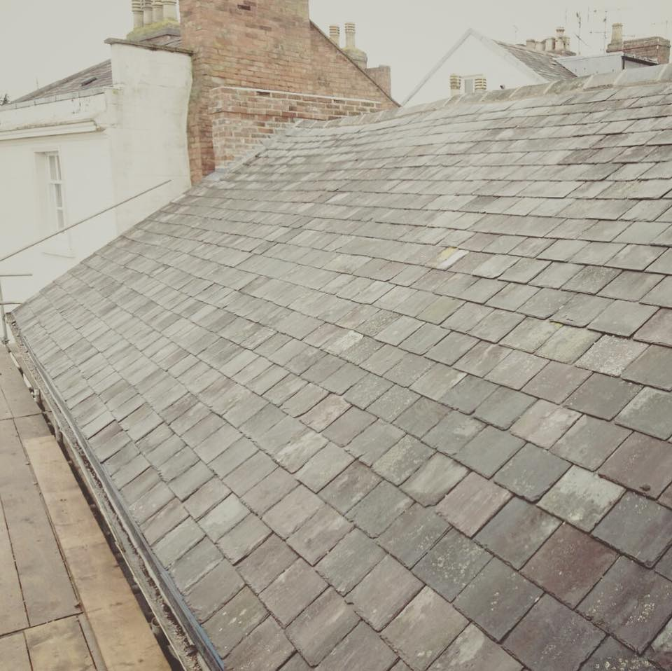 Reroof in Slate in Leamington Spa
