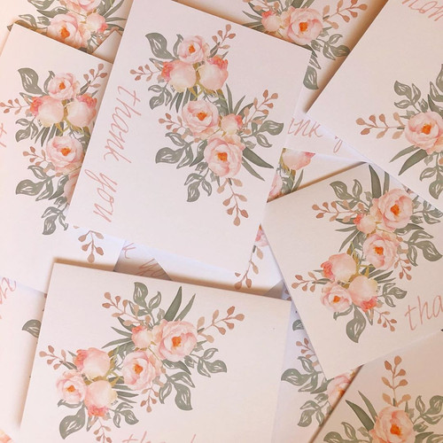 Andrea Woodlee Design Branding Thank You Cards Floral