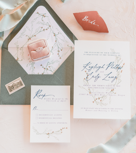 Feminine LGBTQ+ Wedding Inspiration At Sweet Cheeks Winery
