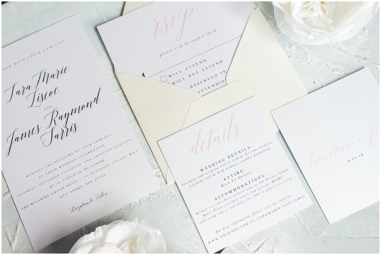 Andrea Woodlee Design Custom Wedding Invitations