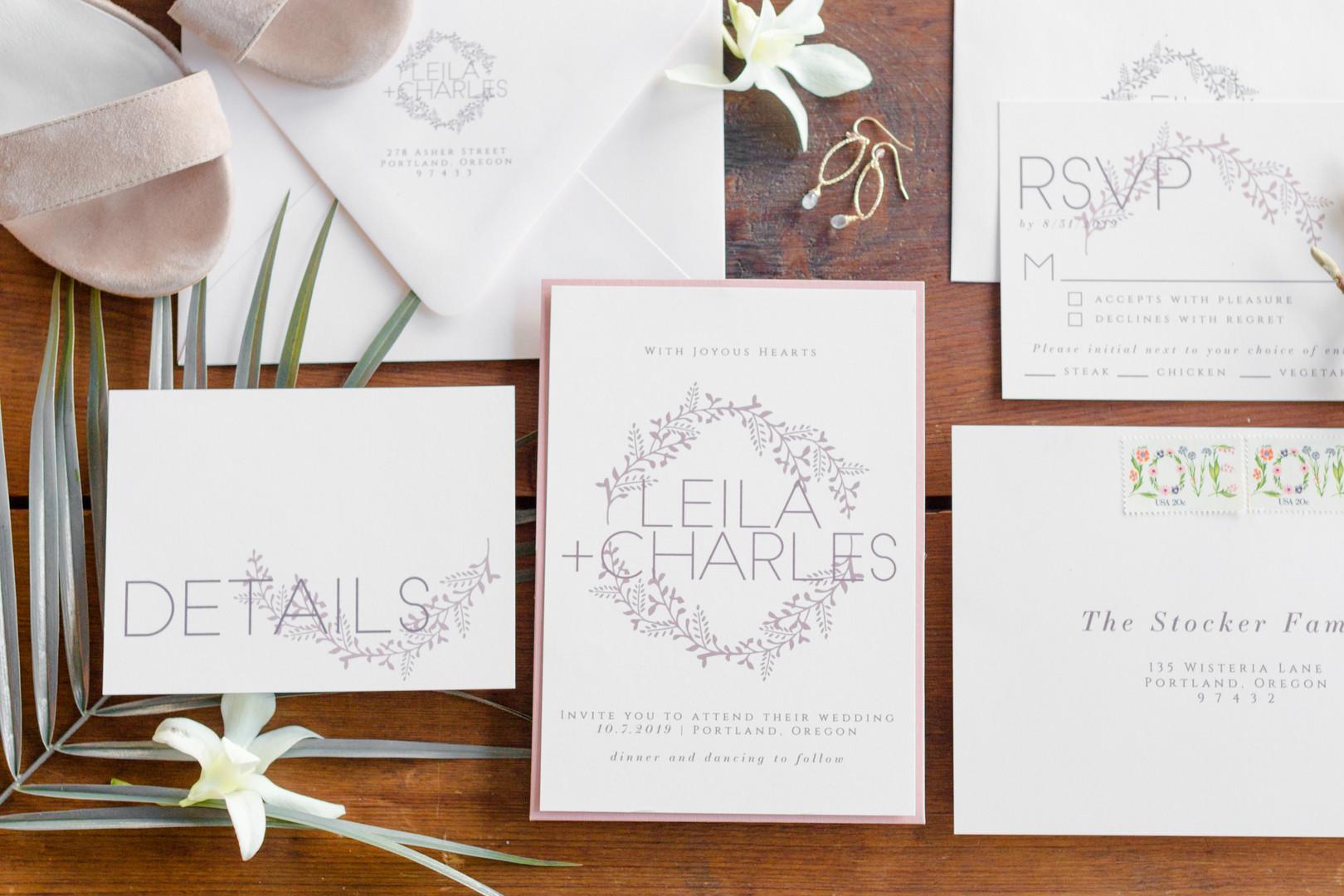Andrea Woodlee Design Semi Custom Wedding Invitations