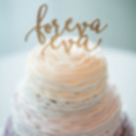 Foreva Eva Wedding Cake Topper Andrea Woodlee Design