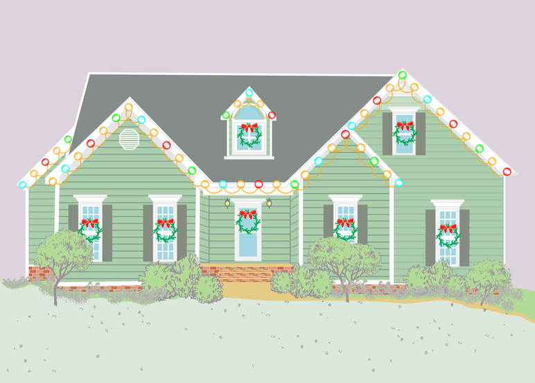 Christmas Home Portrait
