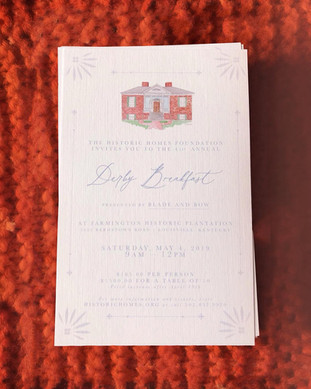 Andrea Woodlee Design Kentucky Derby Invitations Stationery