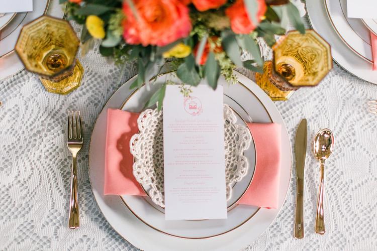 Andrea Woodlee Design Custom Wedding Menus